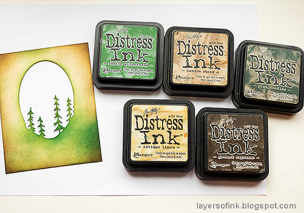 Layers of ink - Forest Shaker Card Tutorial by Anna-Karin Evaldsson.