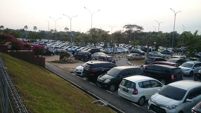 Part of Airport Car Park Area Hang Nadim Batam