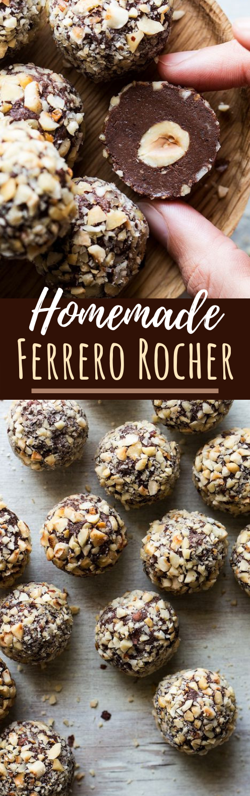 Homemade Ferrero Rocher #chocolate #desserts