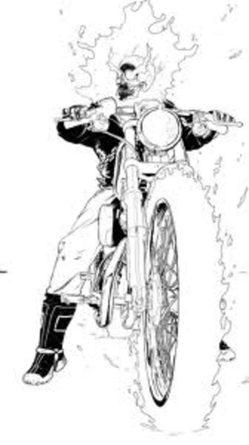 ghost rider free coloring pages - photo#19