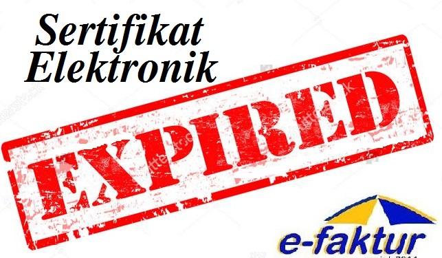 Cara Memperbaharui Sertifikat Elektronik E Faktur Yang Expired