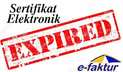 Sertifikat elektronik efaktur expired