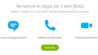 Skype online per chat, telefonate e videochiamate da sito web