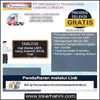 Lowongan Kerja Driver Indomaret Cirebon Terbaru 2021