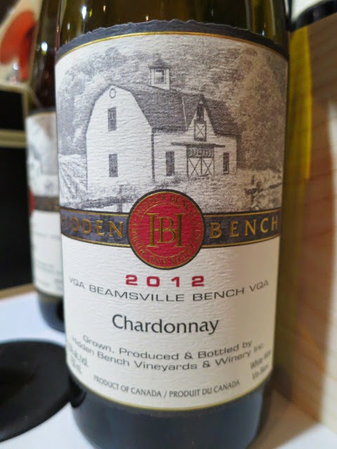 Hidden Bench Estate Chardonnay 2012 from VQA Beamsville Bench, Ontario, Canada