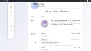 موقع جديد يسمح لك بانشاء سيرة ذاتية جذابه بشكل لايصدق!