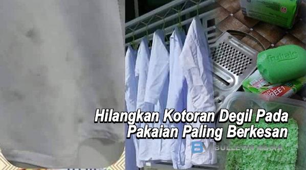 Hilangkan Kotoran Degil Pada Pakaian Paling Berkesan