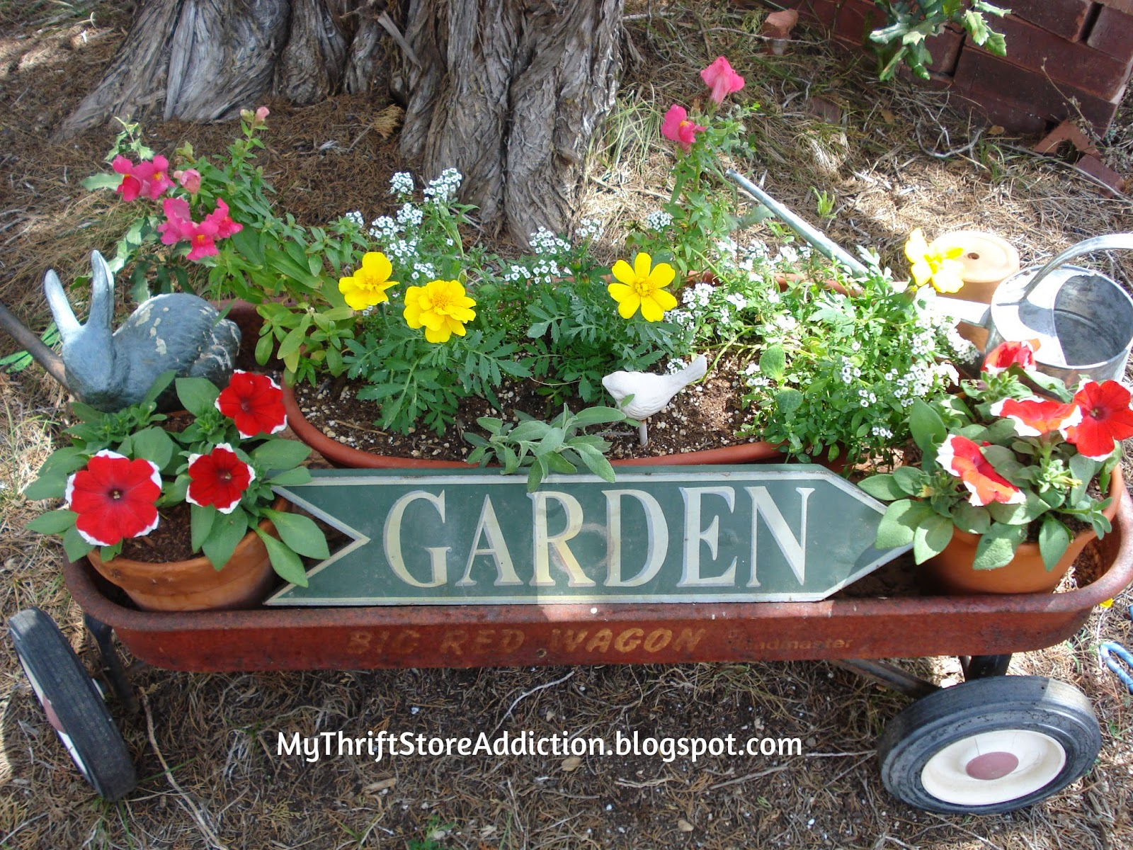 Little red wagon garden