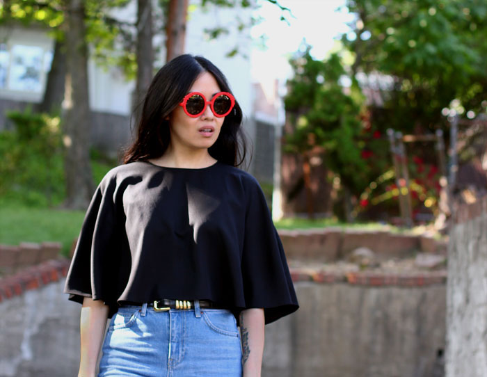 Modern Vintage Outfit and Preen Sunglasses