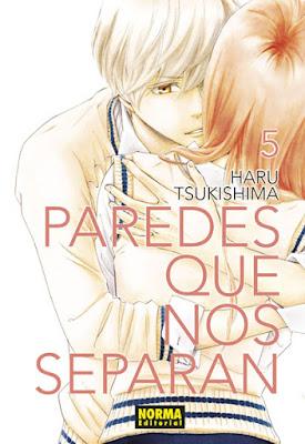 Manga: Review de Paredes que nos separan Vol. 5 de Haru Tsukishima - Norma Editorial