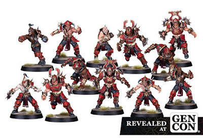 New Blood Bowl Khorne Team The Skull-tribe Slaughterers