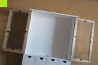 öffnen: Küchenschrank Wandschrank Hängeschrank 4 Haken 4 Schubladen 2 Glastüren Schrank