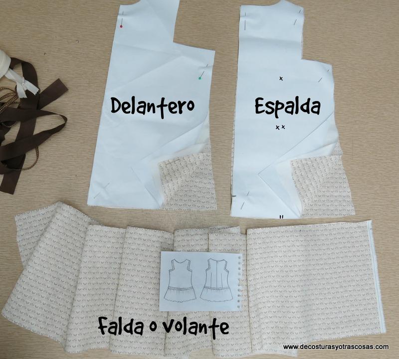 como hacer vestido infantil lino