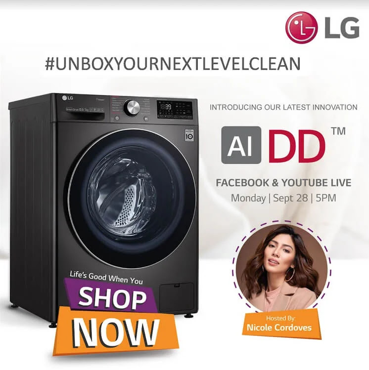 #UnboxYourNextLevelClean with LG's AI DD Washing Machine