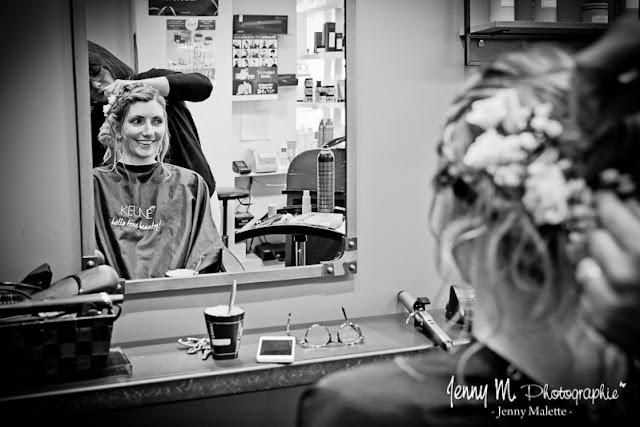 reportage photos mariage chez le coiffeur