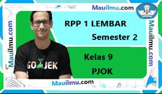 RPP 1 Lembar PJOK kelas 9 Semester 2 daring
