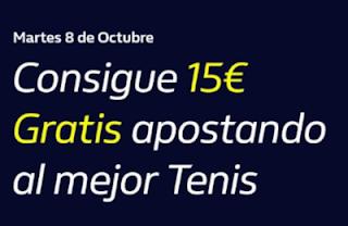 william hill Consigue 15€ Gratis apostando a Tenis 8-10-2019