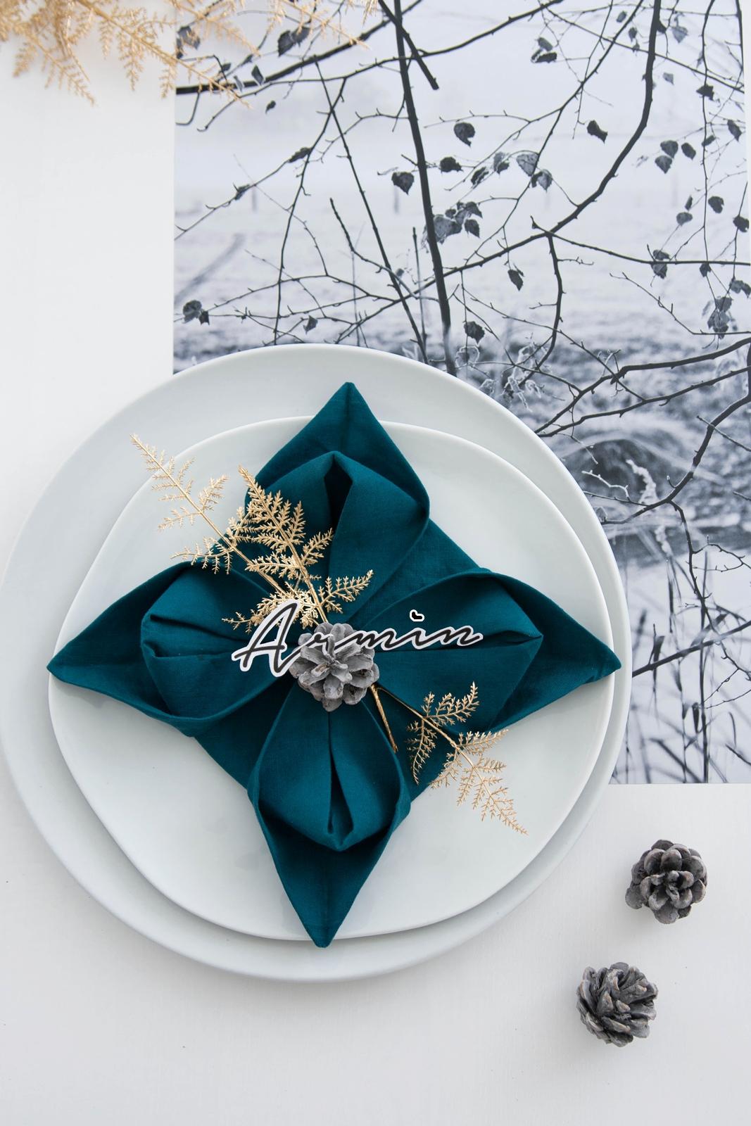 Serviettenblume falten für Weihnachten #sinnenrauschAdventskalender