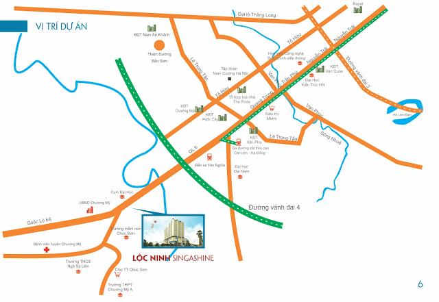 Vị trí dự án chung cư Lộc Ninh