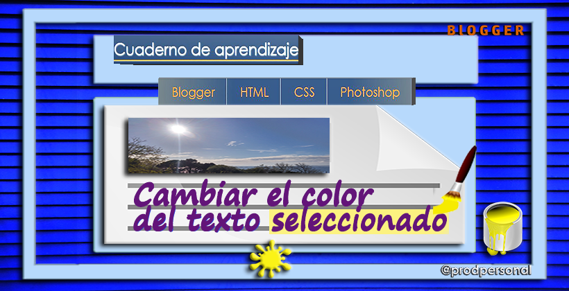 Modificar el color del texto seleccionado