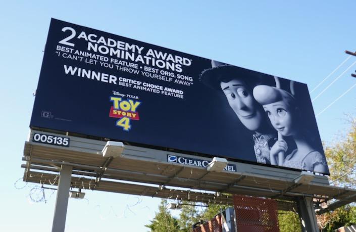 Toy Story 4 Oscar nominee billboard