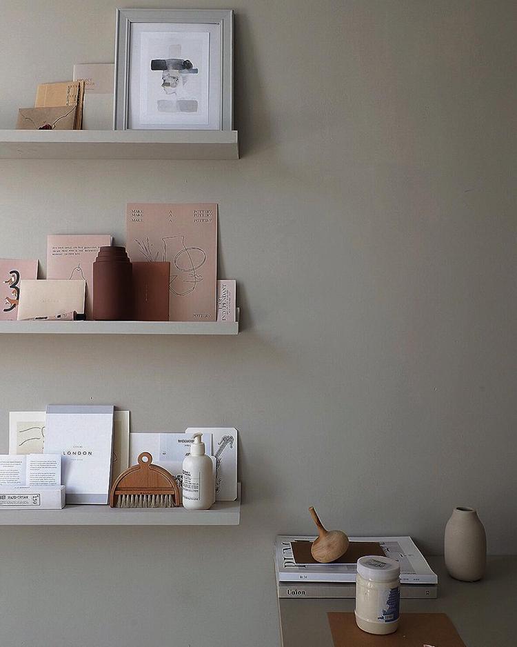 INSTAGRAM CRUSH: Yitai Hu. Scandinavian inspired shelf styling