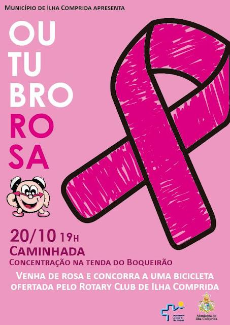 Saúde da Ilha convida para caminhada do Outubro Rosa nesta sexta 20/10