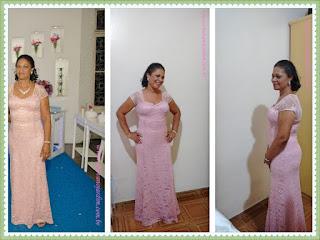 minha mae com vestido rosê