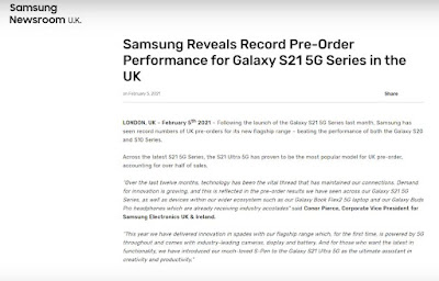 Galaxy S21 Series, Pre-Sales Record, Selling Price
