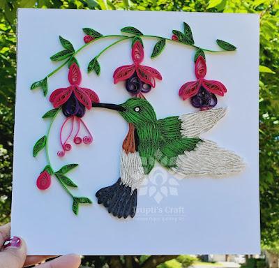 Paper Quilling Hummingbird