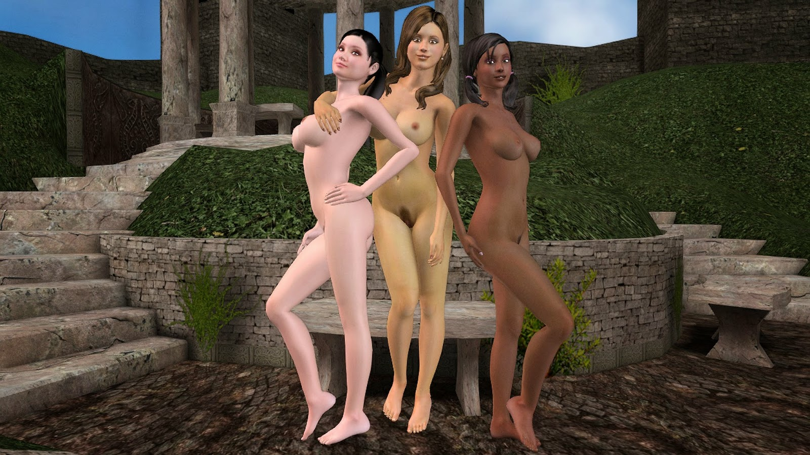 harry potter cho chang katie leung lavender brown jessie cave parvati patil girls of hogwarts nude naked nackt porn sex 3d animated