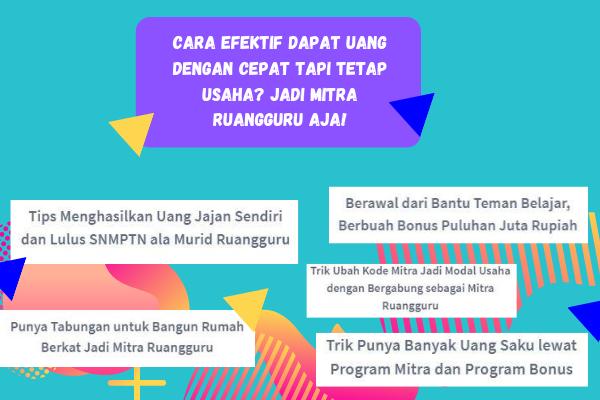 Program Mitra Ruangguru: Lowongan Kerja Sampingan Paling Mudah