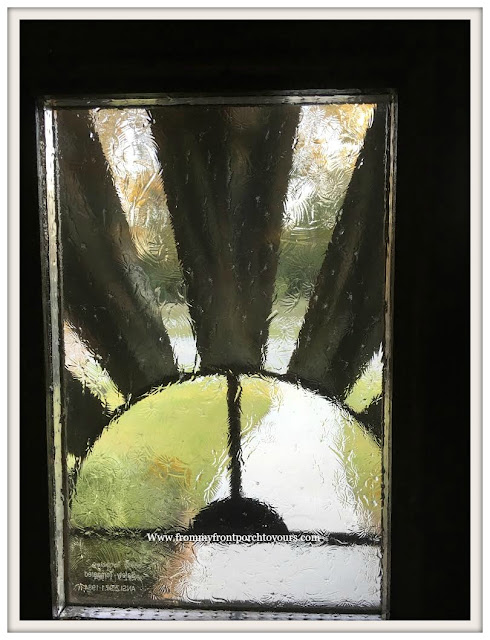 Privacy-Front Door Windows-DIY-Faux Stain Glass-Gallery Glass-From My Front Porch To Yours