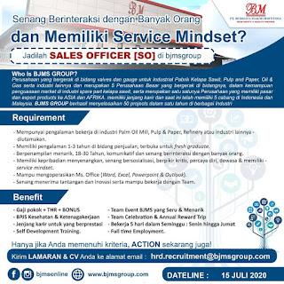 Sales Officer di PT Budijaya Makmursentosa