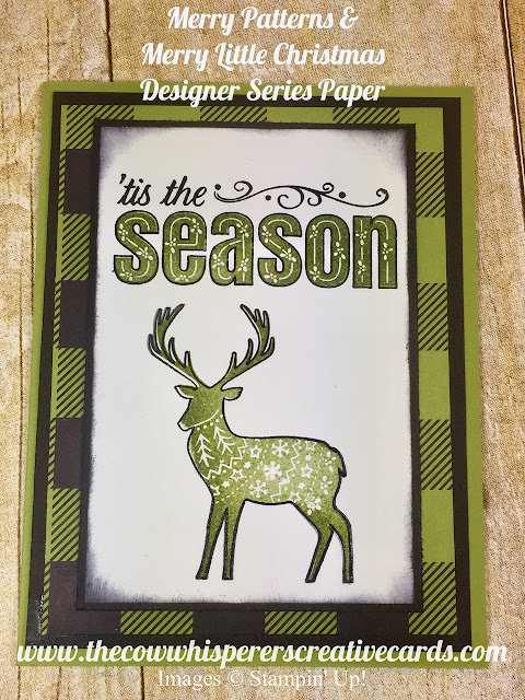 Merry Patterns, Stamp Set, Merry Little Christmas Designer Series Paper, Embossing, Christmas, Card, Stampin UP, tis the season