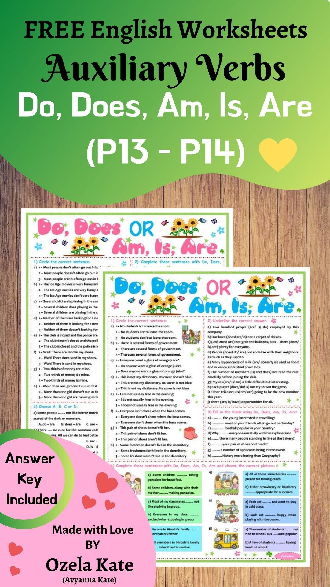 Ozela Kate Worksheet For Children And Beginner
