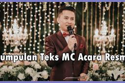 Kumpulan Teks MC Acara Resmi ( Terbaru dan Terbaik )