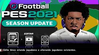 NOVO PES 2021 COM BRASILEIRÃO A E B E EUROPEU PARA ANDROID PPSSPP