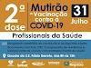 Segunda dose - mutirão de vacinação contra o Covid-19 em Registro-SP
