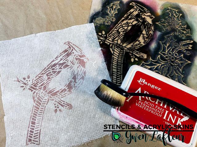 Stencils & Acrylic Skins Tutorial - Step 8 - Gwen Lafleur