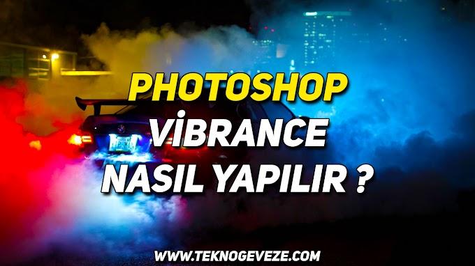 PHOTOSHOP Resime Vibrance Uygulama