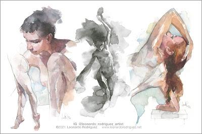 illustration artist-leonardo rodriguez-nude model-human figure
