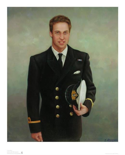 Prince William oil Portrait by Artist John Allsopp