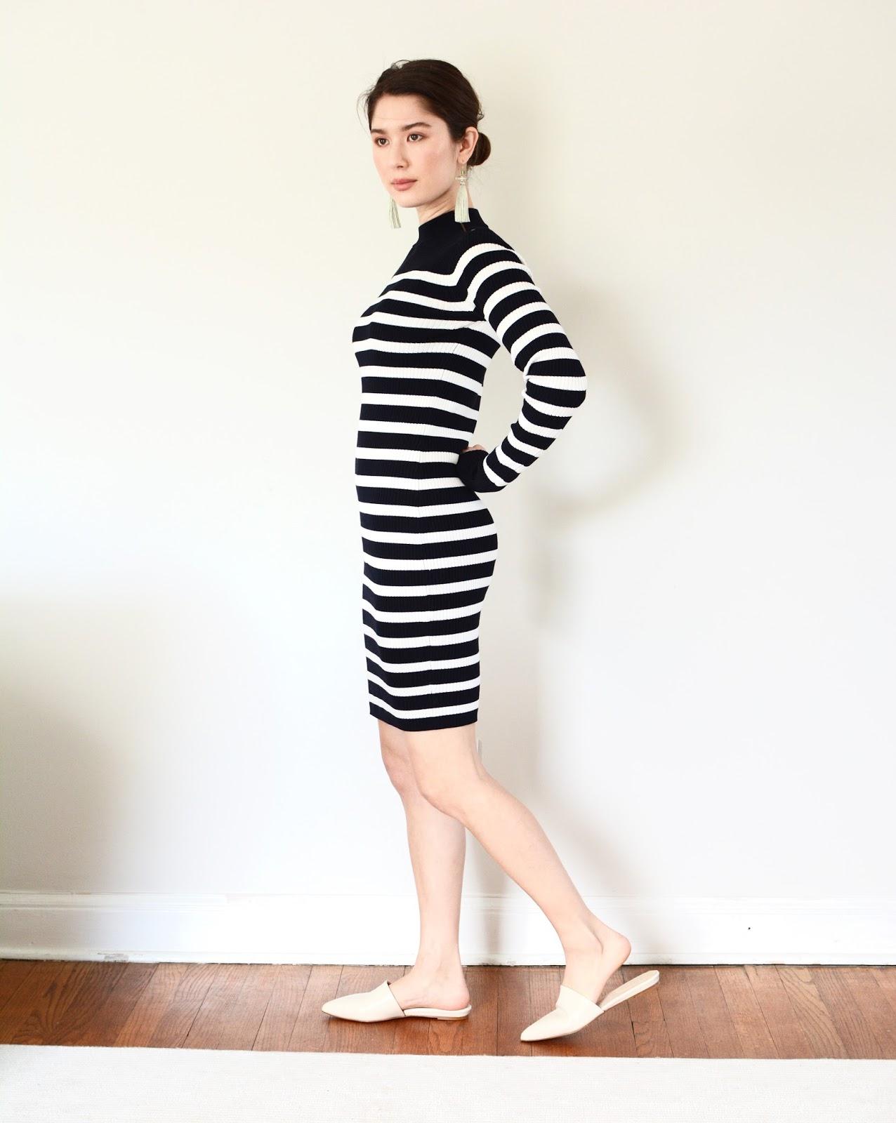 Everlane Breton Ribbed Cotton Sweater Dress Review Petite