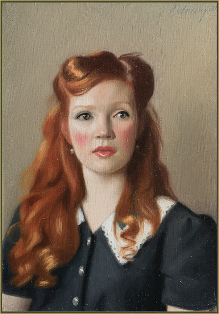 Red Hair In Paintings Women With Very Long Red Hair