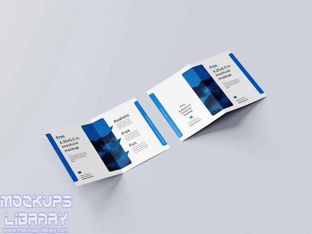 bi fold page brochure mockup 1