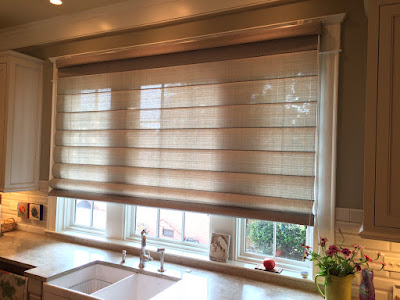 Extra wide Roman shades and blinds for large window