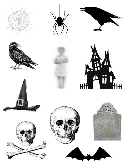 Halloween die cut images to adhere to blank candles