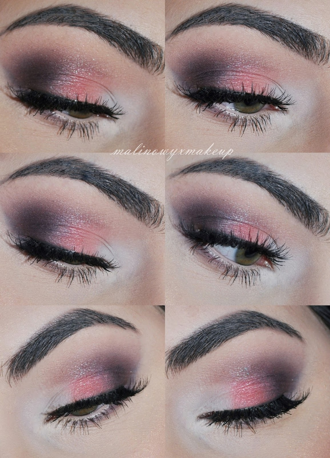 makijaż ślubny brzoskwiniowy różowy brązy klasyczny makijaż oka