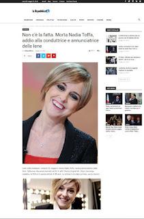 NADIA TOFFA E MORTA!!! LA BUFALA DI CATTIVO GUSTO VIAGGIA IN RETE